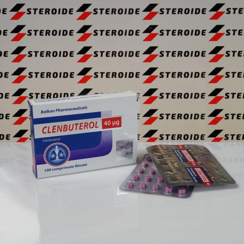 Verpackung Clenbuterol Balkan Pharmaceuticals 40 mkg (Tabletten)