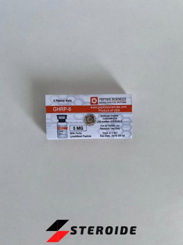 GHRP 6 5 mg Peptide Sciences (Fläschchen)