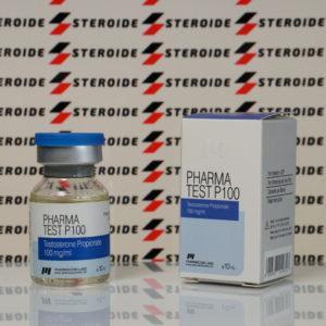 Verpackung Pharma Test P 100 mg Pharmacom Labs (Fläschchen)