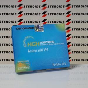Verpackung HGH Somatropin Amino acid 191 10 IU Genopharm (Ampulle)