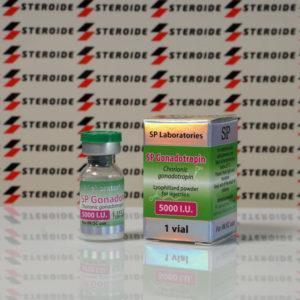 Verpackung SP Gonadotropin 5000 IU SP Laboratories (Fläschchen)