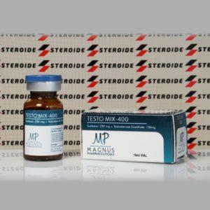 Verpackung Testo Mix 400 mg Magnus Pharmaceuticals (Fläschchen)
