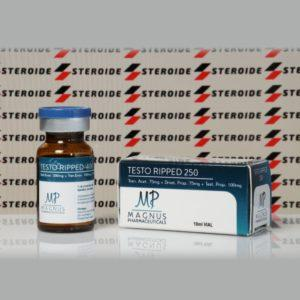 Verpackung Testo Ripped 250 mg Magnus Pharmaceuticals (Fläschchen)